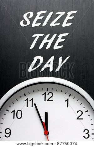 Seize The Day Clock