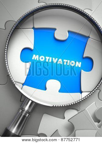 Motivation - Missing Puzzle Piece through Magnifier.