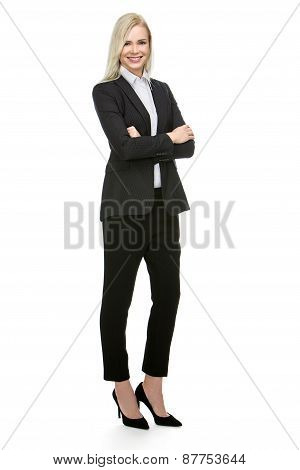 businesswoman folded arms