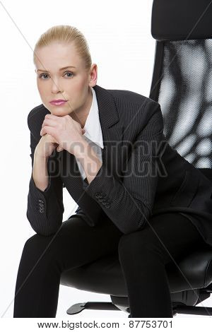 businesswoman seated