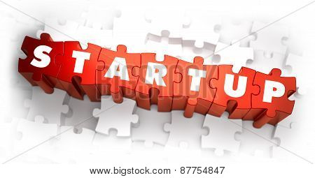 Startup - Text on Red Puzzles.