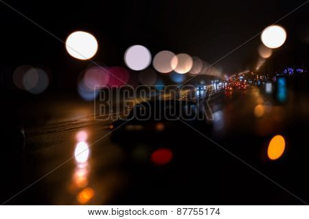 Highway Defocused Background