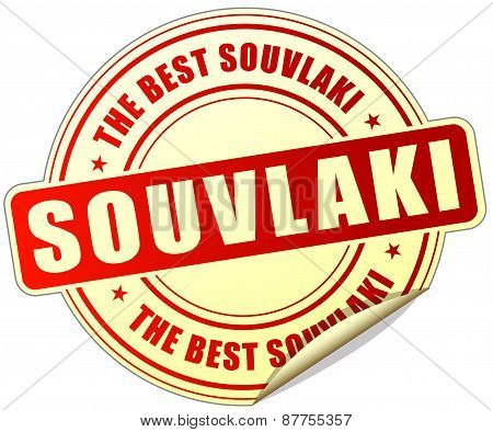 Souvlaki Red Sticker