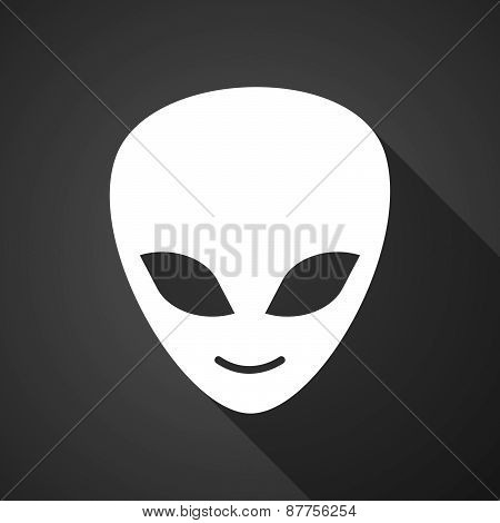 Long Shadow Alien Face Icon