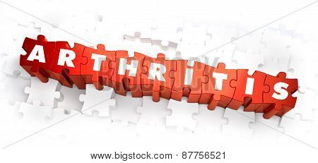 Arthritis - White Word on Red Puzzles.