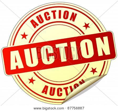 Auction Red Sticker