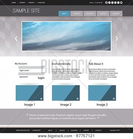 Website Design for Your Business with Abstract Cloud Image Background