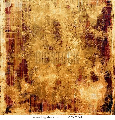 Antique vintage textured background. With different color patterns: red (orange); brown; yellow (beige)