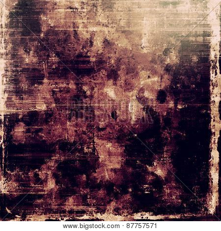 Old grunge background with delicate abstract texture and different color patterns: brown; gray; purple (violet); black