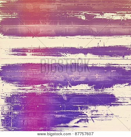 Vintage aged texture, colorful grunge background with space for text or image. With different color patterns: blue; purple (violet); pink
