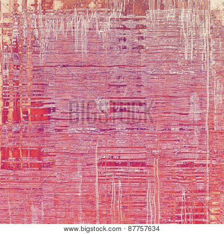 Old abstract grunge background for creative designed textures. With different color patterns: red (orange); brown; purple (violet); pink