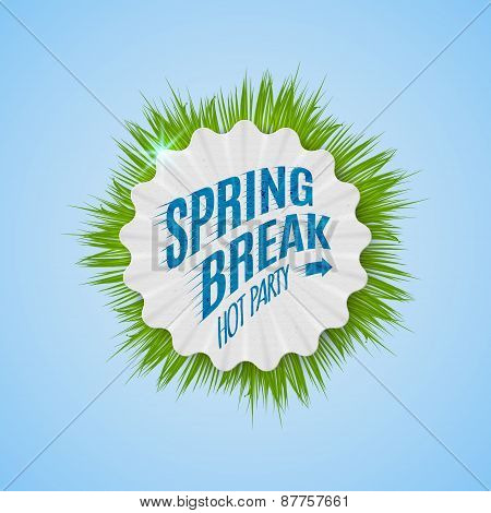 Festival Spring Break Realistic Badge