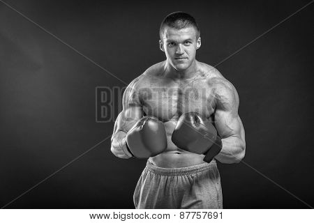 The man in boxing gloves