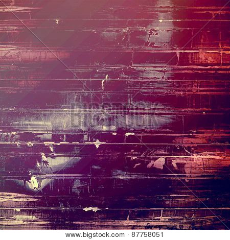 Aged grunge texture. With different color patterns: red (orange); purple (violet); pink