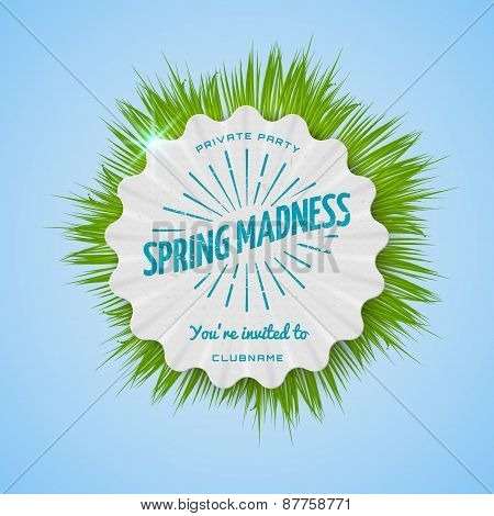 Festival Spring Madness Realistic Badge