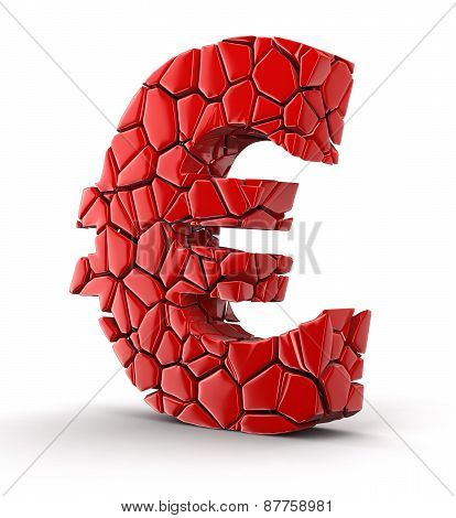 Euro falls apart (clipping path included)