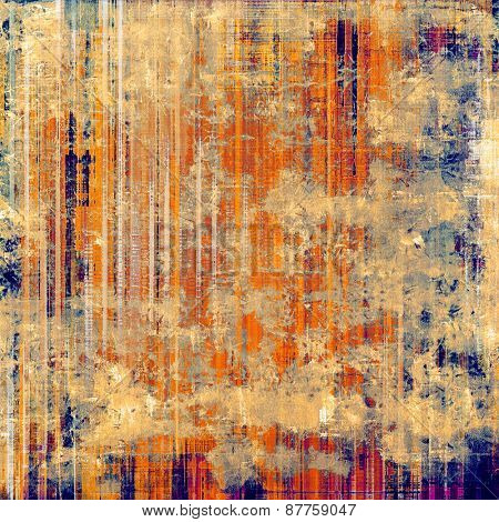 Old designed texture as abstract grunge background. With different color patterns: red (orange); yellow (beige); blue