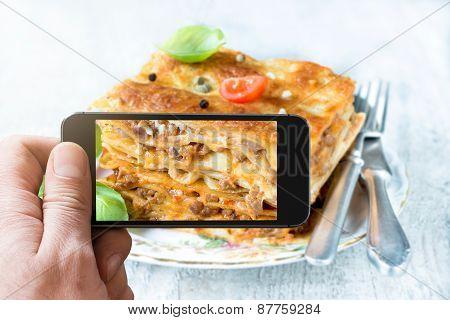 Photographing Lasagna