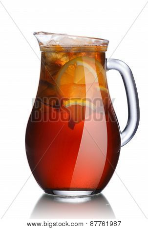 Jug Of Lemon Iced Tea