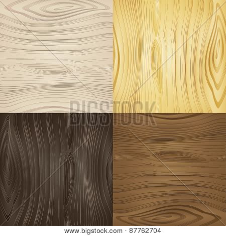 Set of vector seamless wood textures