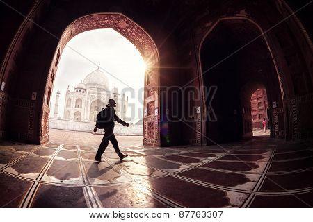 Tourist In Taj Mahal