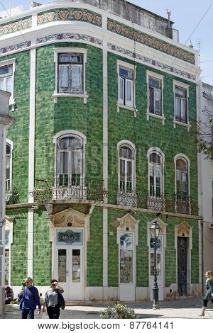 Lagos, Algarve, Portugal - disguising facades