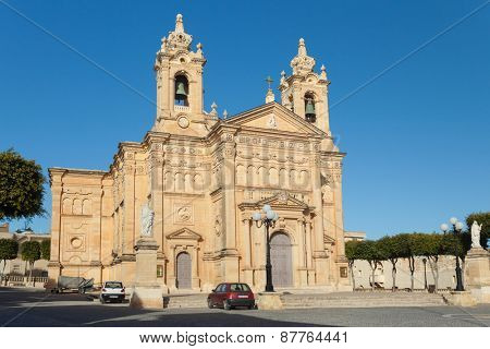 QALA, MALTA - JANUARY 12, 2015: St. Joseph Parish Church.
