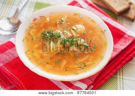 Cabbage Soup. Russian Traditional Dish
