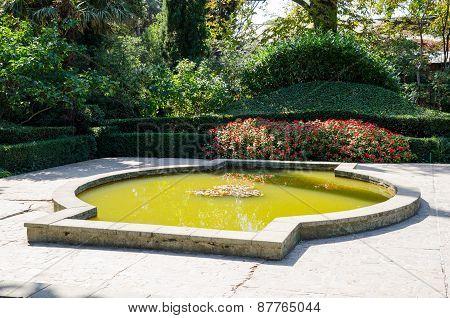 Pond. Nikita Botanical Garden. Crimea, Yalta.