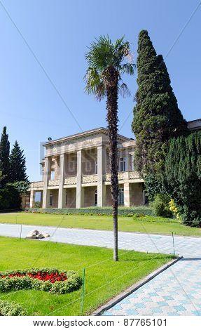 The Administrative Building Of The Nikitsky Botanical Gardens. Crimea, Yalta.