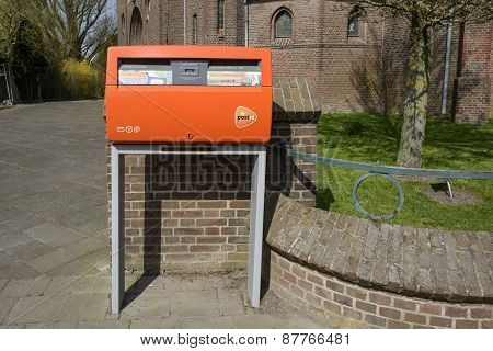 Orange mail box from TNT