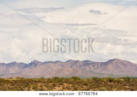 Arizona Monsoon Clouds Above Mountains