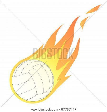 Volley Ball in Fire