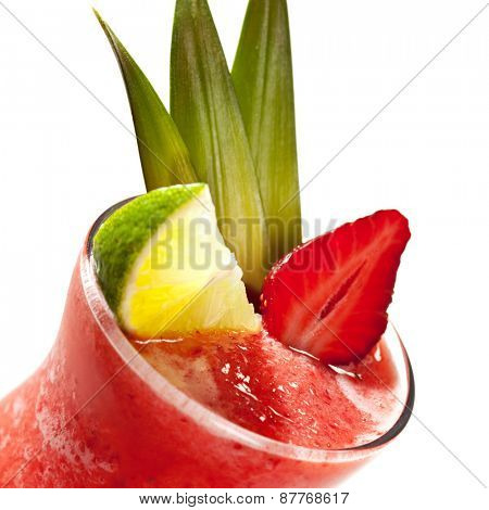 Watermelon Smoothie - Cocktail with Watermelon, Lime and Strawberry