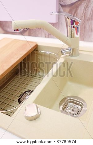 New kitchen sink with faucet