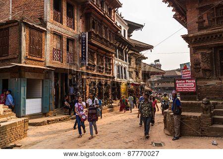 Street in Bhaktapur