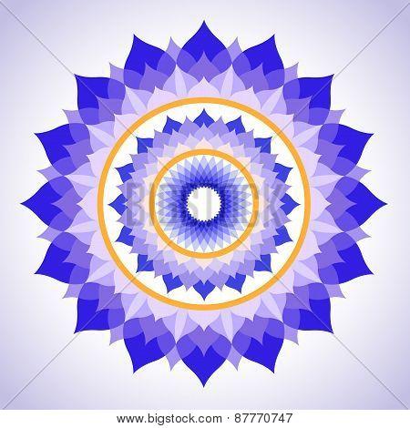abstract painted picture mandala of Sahasrara chakra