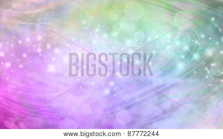 Beautiful green and pink bokeh sparkly website header