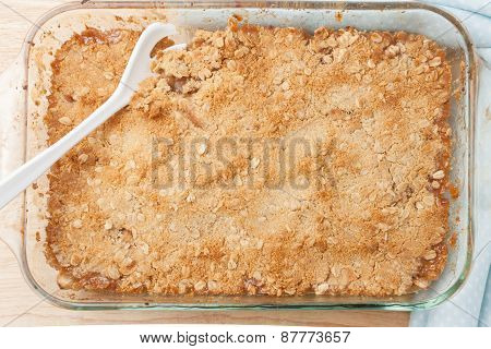 fresh homemade baked apple crisp