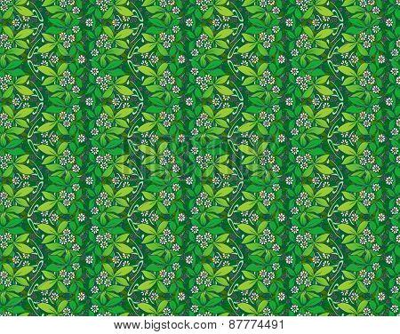 art nouveau greenery wallpaper