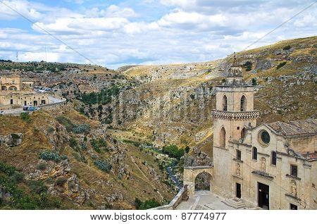 Panoramic view of Matera. Basilicata. Southern Italy.