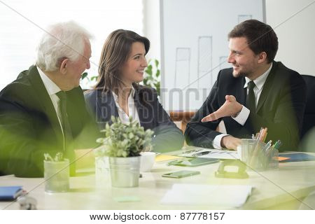 Business Team Talking During Conference