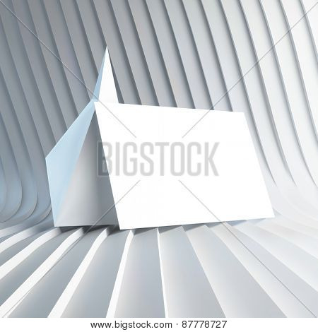 Empty white business card. 3d vector illustration. Business blank.