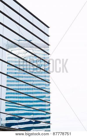Modern Building Mirror Facade