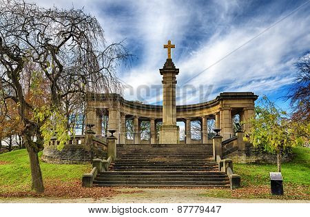War memorial in Greenhead park, Huddersfield