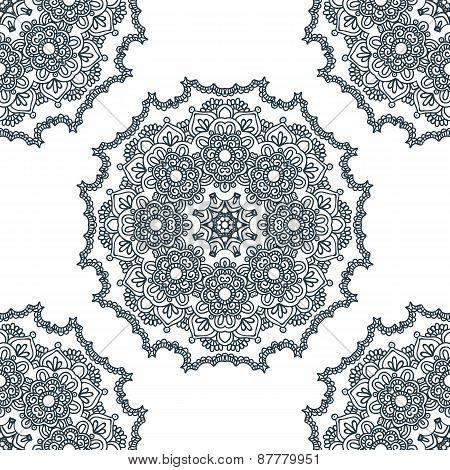 Seamless Background, East Ornament. Vector Illustration
