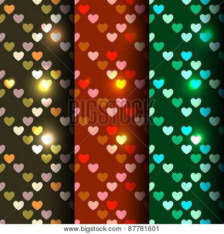 Bright set of 3 seamless
