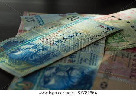 Some Old Banknotes Lit With The Sun