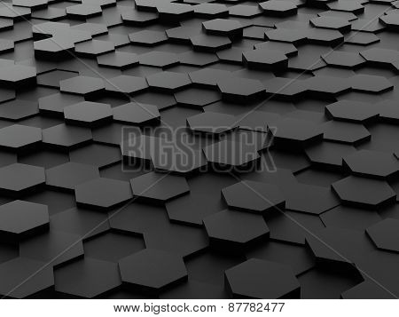background of 3d hexagon blocks