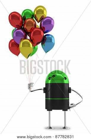 Robot With Balloons
